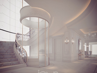 A Home to Love – Interior Design Inspirations IONS DESIGN Classic corridor, hallway & stairs Iron/Steel White