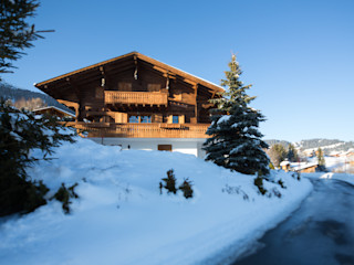 Chalet in Swiss Alps Prestige Architects By Marco Braghiroli Тераса