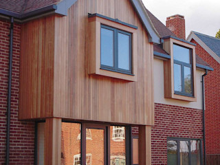 Guide to External Cladding Building With Frames Single family home Wood Wood effect