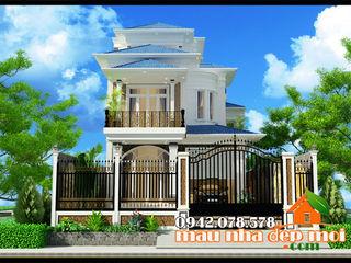 Mẫu biệt thự 3 tầng kiến trúc hiện đại Châu Âu tuyệt đẹp Công ty TNHH TKXD Nhà Đẹp Mới Biệt thự