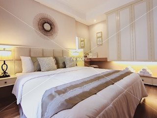 Apartment Landmark Residence, Bandung ARKON BedroomBeds & headboards White