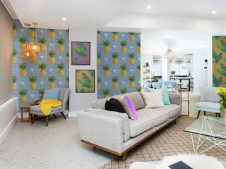 Pineapple Fever Pixers غرفة المعيشة Multicolored