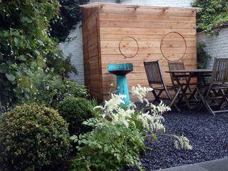 Aménagement d'un jardin de ville avec une cabane sur mesure Urban Garden Designer JardinAbris de jardin & serres Bois