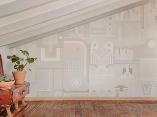 Reforma de Atico Hiruki studio Salones de estilo escandinavo