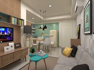 3D Apartment Trivium Terace, Cikarang Bekasi ARKON Living roomTV stands & cabinets
