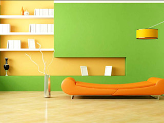 homify.co.id Tường & sàn phong cách tối giản Green