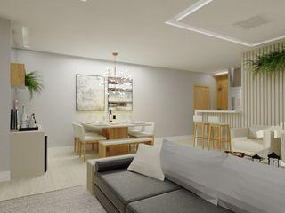 Bruna Ferraresi Modern living room Wood effect