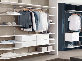 Walk-In Wardrobe Regalraum UK Вбиральня Білий