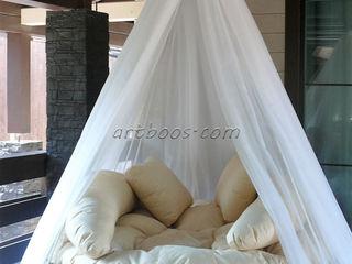 Подвесная круглая кровать на заказ Творческая мастерская АRTBOOS Балкон, веранда и террасаАксессуары и декор Бежевый