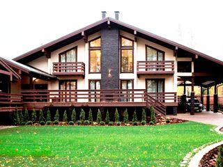 Шале на реке Истра Творческая мастерская АRTBOOS Дома с террасами Твердая древесина Бежевый