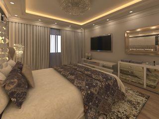 Flat in El Rehab Rêny Eclectic style bedroom Beige