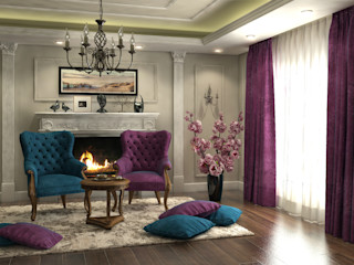 Flat in El Rehab Rêny Eclectic style dining room Multicolored