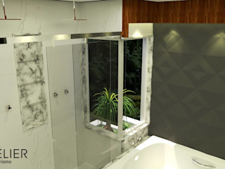 Architelier Arquitetura e Urbanismo Mediterranean style bathrooms