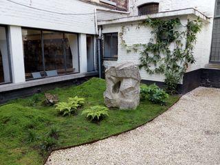 Aménagement d'une cour en espace Zen Urban Garden Designer JardinFleurs & Plantes Pierre