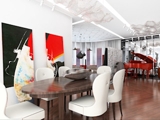 Apartment in Palace Green AR Architecture Modern dining room