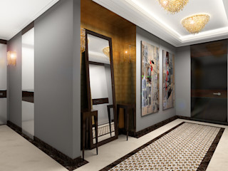 Apartment in Palace Green AR Architecture Modern corridor, hallway & stairs