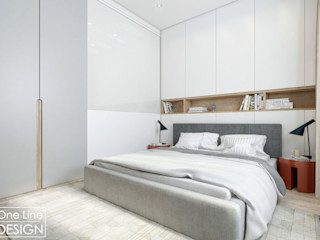 One Line Design Industrial style bedroom White
