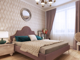 One Line Design Classic style bedroom Pink