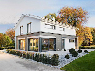 ADAY GRUP Hafif Çelik Yapılar A.Ş. / LGS CONSTRUCTION Fertighaus Holz-Kunststoff-Verbund Bernstein/Gold