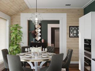 Wide Design Group クラシックデザインの キッチン ベージュ