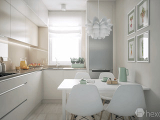 hexaform Ankastre mutfaklar Orta Yoğunlukta Lifli Levha Bej
