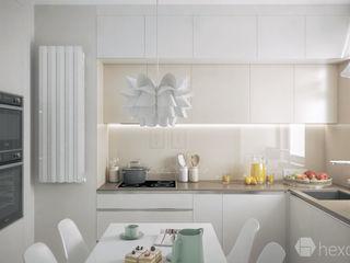 hexaform Modern Mutfak Orta Yoğunlukta Lifli Levha Bej