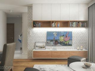 hexaform Modern Oturma Odası Tuğla Beyaz