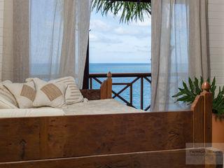 Sala Casa de Praia - Por Patrícia Nobre Patrícia Nobre - Arquitetura de Interiores Salas de estar tropicais