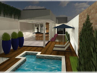 Roberta Branquinho- Arquitetura & Interiores Garden Pool