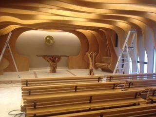 altare e leggio per cappella Radice In Movimento ArteSculture Legno