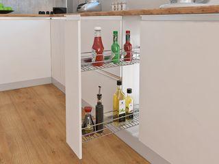 GRATIS para tu Cocina Integral: Canasta botellero Remodelar Proyectos Integrales Cocinas de estilo moderno Aglomerado Blanco