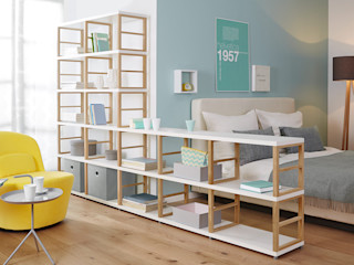 Room Divider Shelves Regalraum UK Спальня