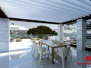 Progettazione villetta 184_A_02 - Alella (Barcellona) Espana Baldantoni Group Sala da pranzo moderna
