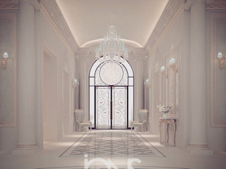 Stylish and Lasting Entrance Design Ideas IONS DESIGN Classic corridor, hallway & stairs Marble White