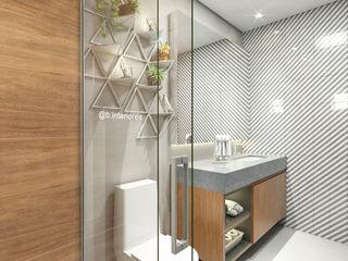 Bruna Rodrigues Designer de Interiores Baños de estilo moderno Concreto Gris