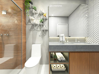 Bruna Rodrigues Designer de Interiores Baños de estilo moderno Granito Gris
