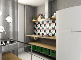 Bruna Rodrigues Designer de Interiores Muebles de cocinas Tableros de virutas orientadas