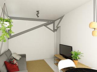 Bruna Rodrigues Designer de Interiores Salas de estilo moderno Tableros de virutas orientadas