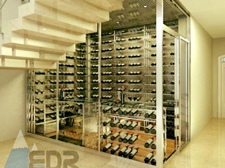 EDR - Adegas Climatizadas Modern Home Wine Cellar Glass Transparent