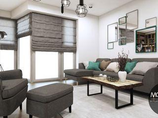 Mieszkanie w klimacie skandynawskim MONOstudio Skandynawski salon
