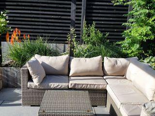 Sloping Garden Design, Crowthorne, Berkshire Linsey Evans Garden Design Modern garden Stone