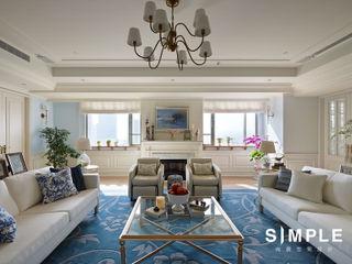 尚展空間設計 Living room Blue