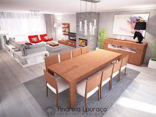 Andreia Louraço - Designer de Interiores (Email: andreialouraco@gmail.com) Comedores de estilo moderno Madera Blanco