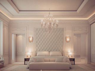 Bedroom Design in Dramatic Contrast IONS DESIGN Minimalist bedroom Marble Green