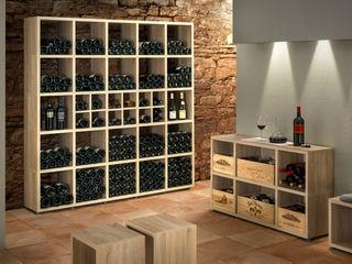 Wine Racks Regalraum UK ラスティックデザインの ワインセラー