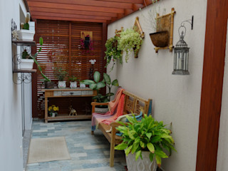 Ambiento Arquitetura Rustic style conservatory Wood Wood effect