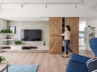 寓子設計 Salas de estilo escandinavo