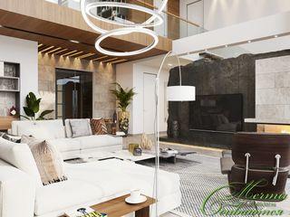 Компания архитекторов Латышевых 'Мечты сбываются' Salas de estar modernas