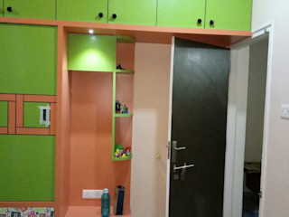 AOM Interior Modern Bedroom Plywood Orange