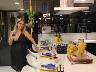 Lúcia Vale Interiores 餐廳 MDF Blue